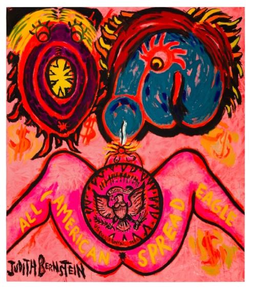 Judith Bernstein, All American Spread Eagle, 2016.Image courtesy Judith Bernstein and Paul Kasmin Gallery