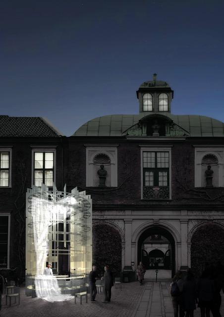 The Many Chairs Pavilion: Sofia Luna Steenholdt, Joachim Makolm Michelsen, Emil Bruun Meyer and Casper Phillip Ebbesen.
