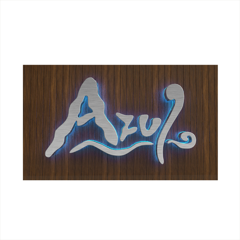 Azul Restaurant_Logo and Signage