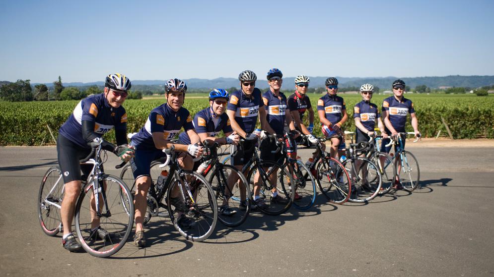 ZOZI Guru Chris Lieto takes the ZOZI team out for a bike ride
