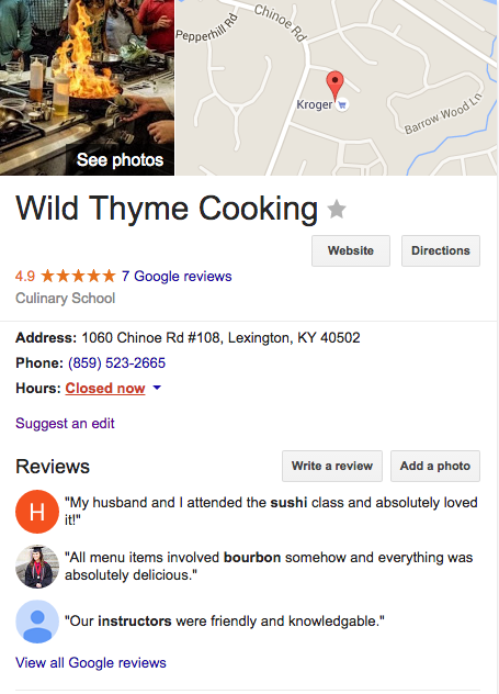 Wild Thyme Cooking