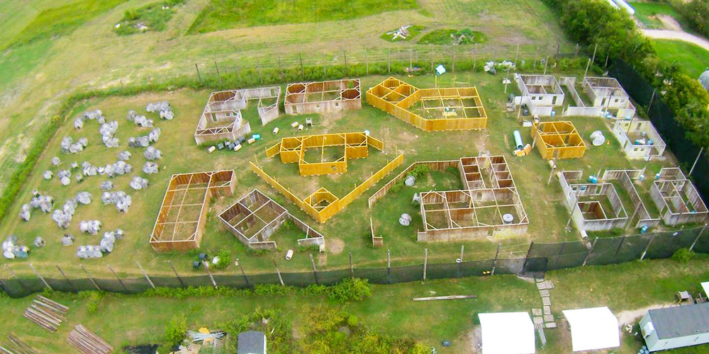 Our friends at Glory Paintball put some aerial shots of their playing field on the home page of their website and Facebook page. Nice!