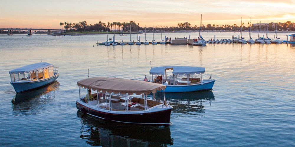 Our partners at Duffy of San Diego do a great job of selling the entire experience on their website, which features video, images and thorough product descriptions. We also love that they've posted a map of Mission Bay, which makes it easy to plan your excursion ahead of time.