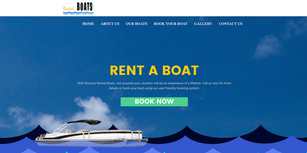 "Our friends at Boracay Rental Boats do a great job of fast-tracking customers to the products page. Not only is their booking button ""above the fold"" on the home page of their website, they also have a ""book your boat"" tab in the navigation bar that takes customers to the same page."