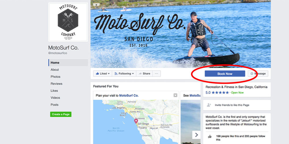 Make it as easy as possible for your customers to get to your checkout flow. Taking advantage of the call to action button on Facebook, like our partners at Moto Surf Co. pictured above, is an easy way to do this!