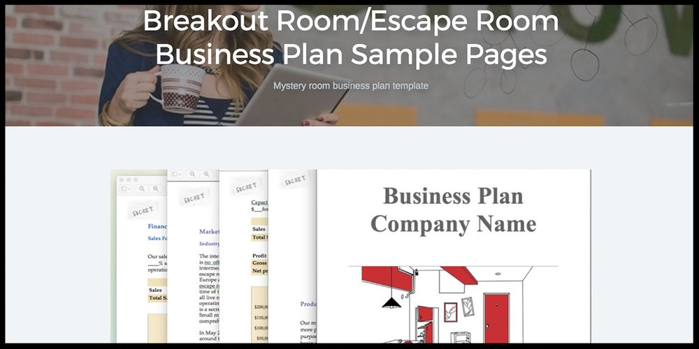 Black Box offers a business plan template specifically for escape rooms