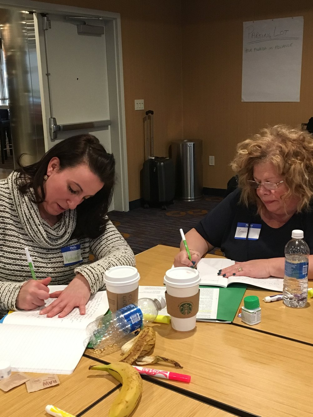 Participants participate in a Strengths Documentation activity.