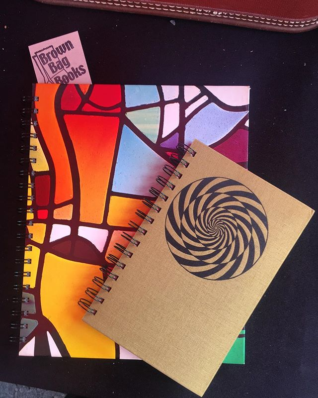 Good eye! 💥 Some lucky customer picked up these two 'rescued book journals' from us @smorgasburgla Those colors! Those designs! One of a kind indeed☝🏼Write & Sketch away people... #dtla #design #geeks #journal .......................................... • • • • • #art #losangeles #design #travel #foodie #writer #bibliophile  #bookstagram  #oneofakind  #vintage  #books  #repurposed  #book  #sketchbook  #artist  #create  #berlin #bookshelf  #bookaholic  #booklover  #smorgasburg #la ♥️ #holiday #gift #idea
