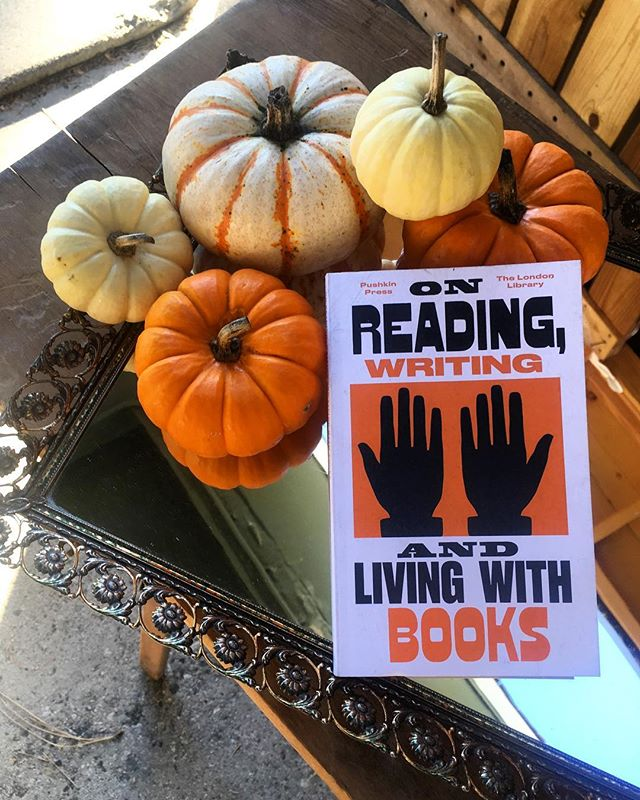 Let's talk about living with Books - you should! Live with #books and #reading and #writing 💥(and little baby pumpkins) Join us tomorrow 10/28 @dtrartwalk with a whole bunch of bitchen #artists in the great city of #redlands 👉🏼#downtown Noon to 6, we've got some *amazing* Books we've been hiding .... #artbook #classic #literature #journals and more. #artwalk #city ✌🏼... • • • • #art #travel #design #style #inspiration #vintage #homegoods #thestation #bookgeek  #bibliophile  #california  #artevent  #food & #beer  #babypumpkin  #halloween #spirit  #bookstagram