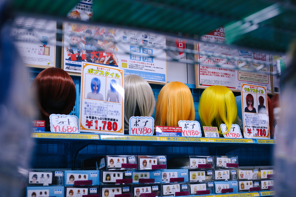 Plenty of cosplay wigs to choose from if you're into that kind of thing.