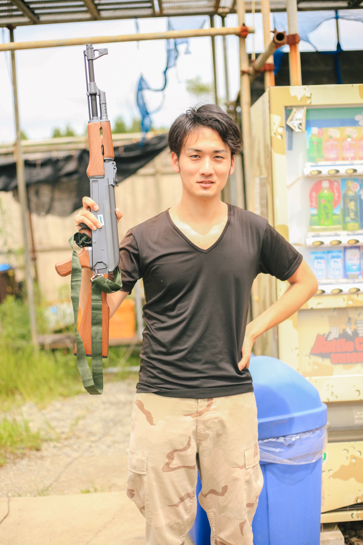 Akira representing the AK squad.