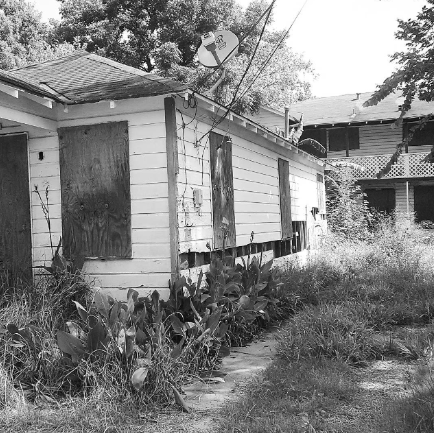 Abandoned properties like this one are very common sightings in the Third Ward