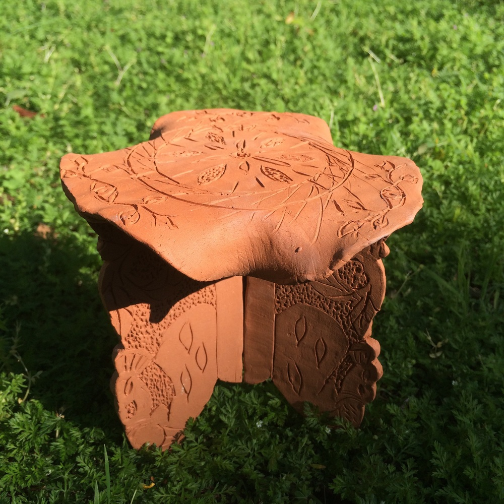 Terra cotta mini table
