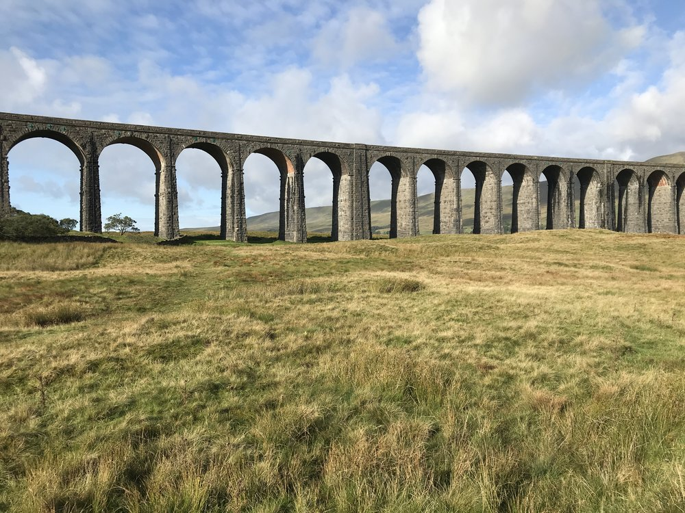 Ribblehead Viaduct along the Settle/Carlisle line.