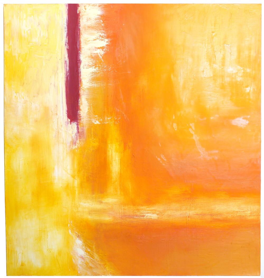 Lareina Holsopple  I  Nacho Cheese  I  oil on canvas, 4 ft x 4 ft