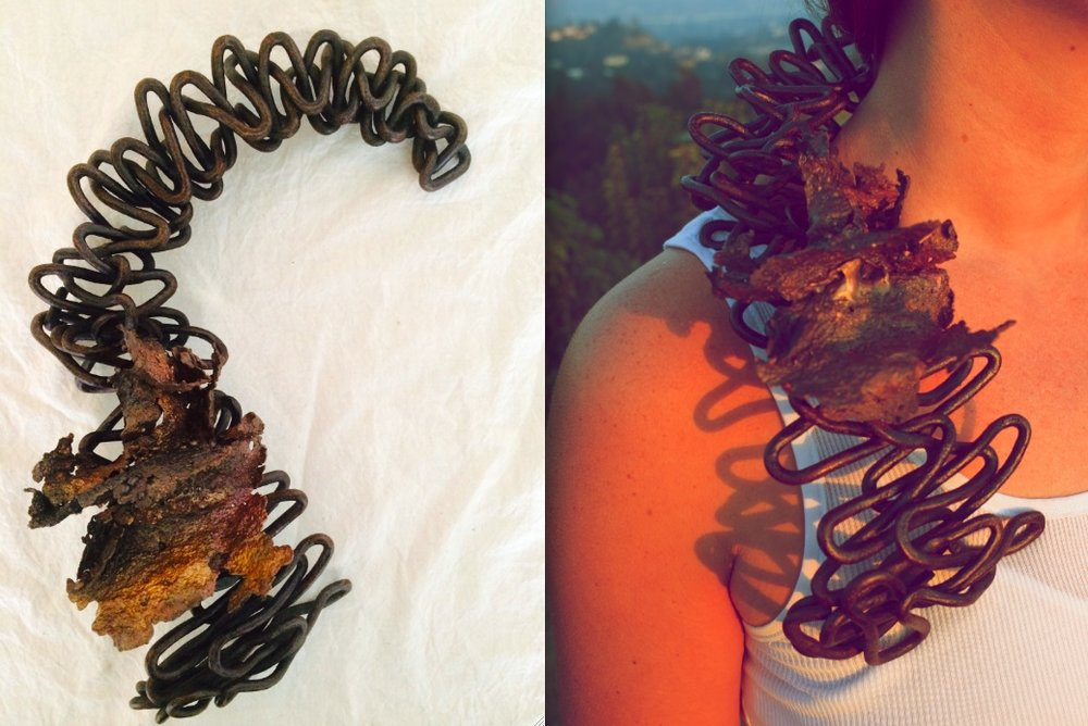 Wearable Sculpture, Necklace. Made to order.