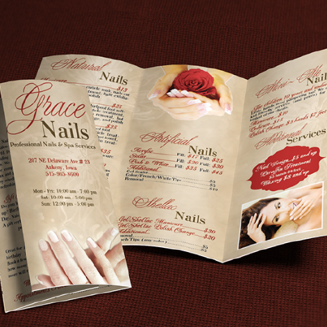 GRACE NAILS - BROCHURE AND WEB DESIGN