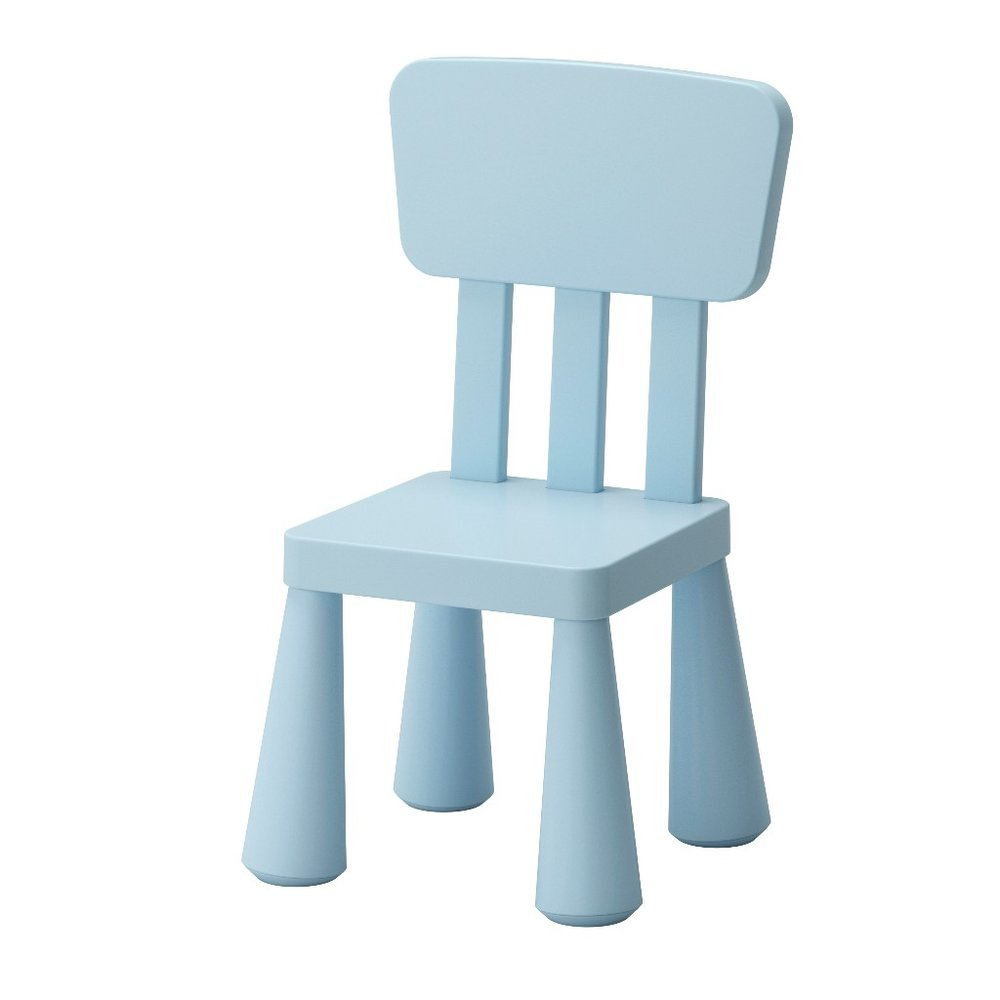 """As for a 'classic plastic' children's chair of today, you don't need to look any further than your local IKEA store,"" says Peter Fiell. In 1994, Danish designers Morten Kjelstrup and Allan Östgaard created the ubiquitous polypropylene MAMMUT children's chair for the Swedish retailer. ""The cartoonlike chair is low on price,"" says Fiell, ""but high on child appeal."" Courtesy of IKEA"