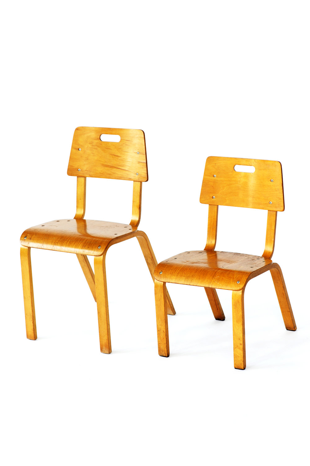 Thonet Plywood School Chairs - Photo by Lora Appleton