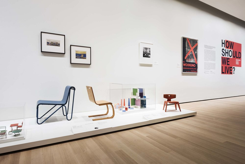 Installation view of How Should We Live? Propositions for the Modern Interior. The Museum of Modern Art, New York, October 1, 2016–April 23, 2017. © 2016 The Museum of Modern Art. Photo by Martin Seck