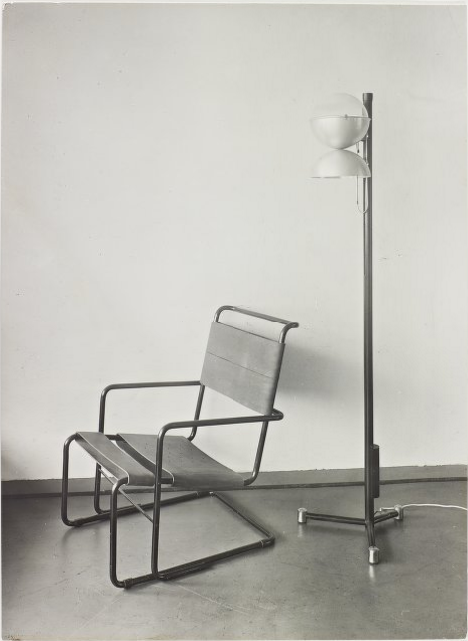 Tubular-steel lounge chair designed by Marcel Breuer. Photo from the  Marcel Breuer Digital Archives .