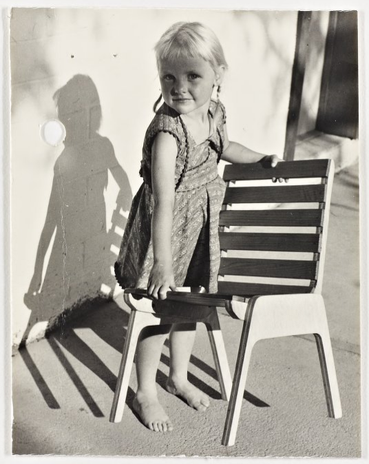 Girl with Chair. Photo from the Marcel Breuer Digital Archives.