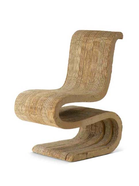 Frank Gehry's Wiggle side chair. Photo courtesy of the Vitra Design Museum.