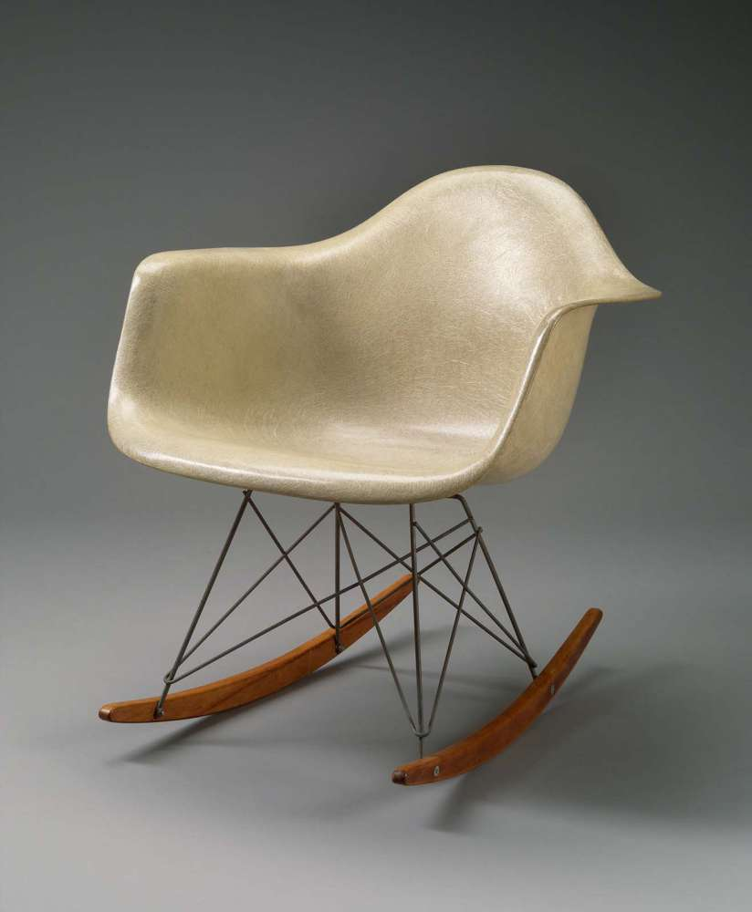 RAR (Rocking Armchair Rod) by Charles and Ray Eames, 1950––53. Herman Miller, Inc.® Eames®