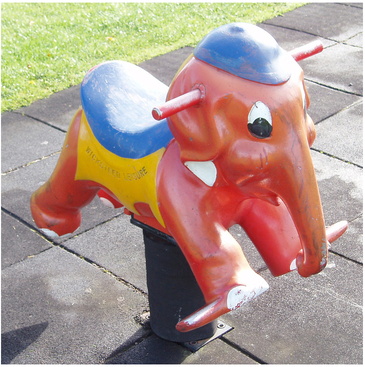 Elephant by Wicksteed Leisure. Photo via vintagespringriders.com.