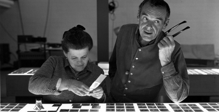Charles and Ray Eames. Photo via eamesoffice.com.