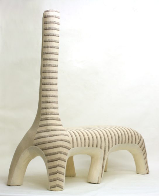 Giraffe (2012) by Tanya Aguiñiga. Photo via tanyaaguiniga.com.