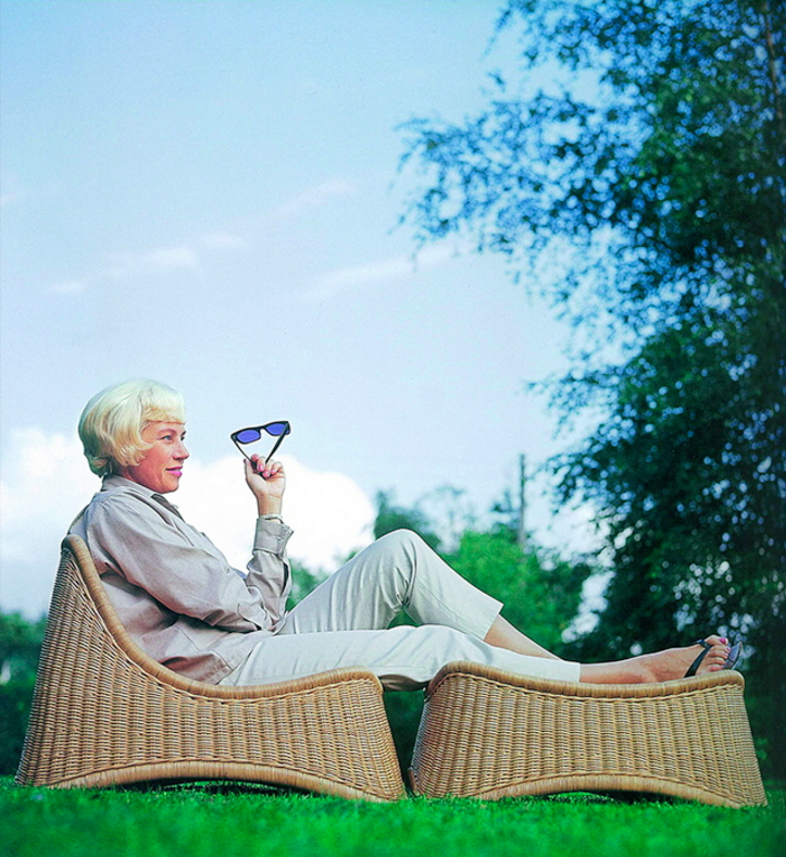 Nanna Ditzel on her Chill Lounge and Ottoman. Photo via nanna-ditzel-design.dk.
