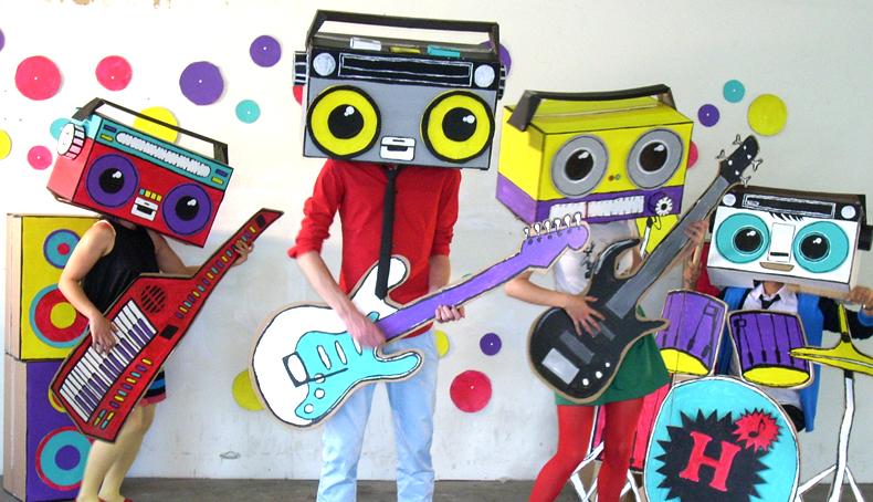 Cassette Boy and his collaborators.2011. Photo via studiomaky.com.