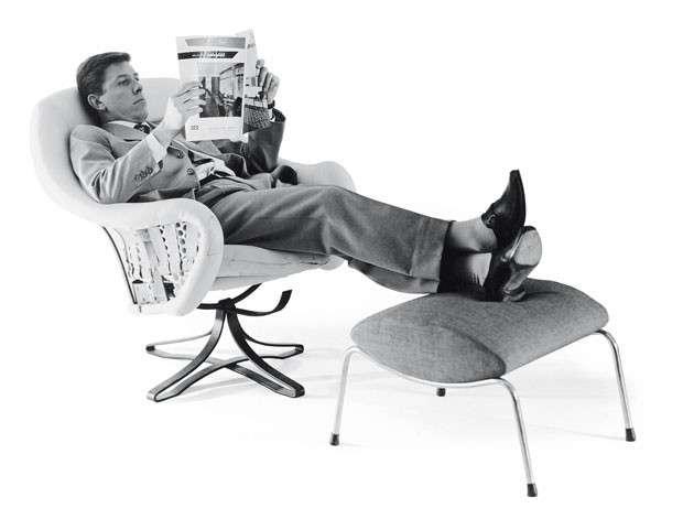 Lady armchair for Arflex, 1952, Arflex. Photo via  designmag.it .