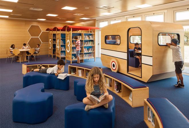 King Solomon Elementary School Library. Photo via  shanihay.com .