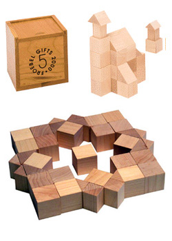Cubes and Triangular Prisms.Image via froebelgifts.com