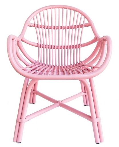 Rattan Kids Chair, Pink by Stylodeco. Photo via  stylodeco.com
