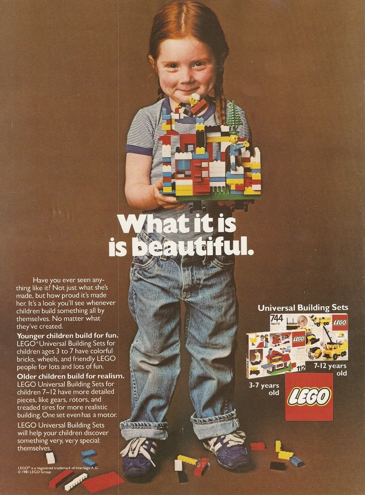 Ad for Lego, 1981. Photo courtesy of    vam.ac.uk