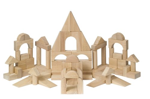 Unit Blocks by Caroline Pratt. Image via  bothellfamilycoop.org