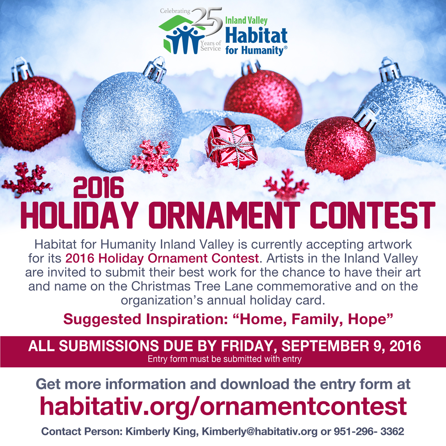 Call to Artists: 2016 Holiday Ornament Contest submissions being ...