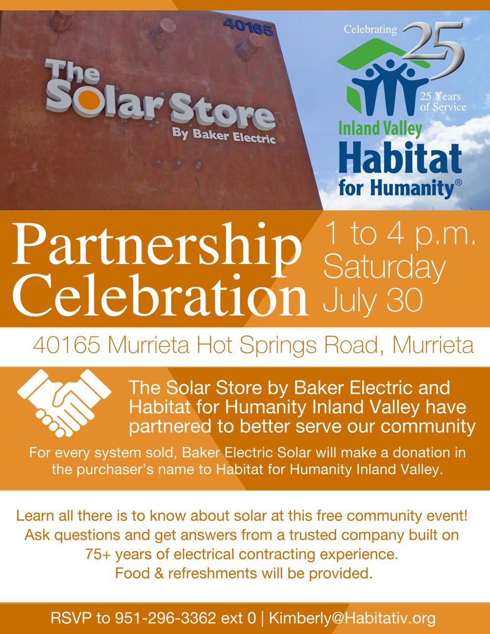 Baker Electric Solar >> Baker Electric Solar Partnership Celebration Habitat For Humanity