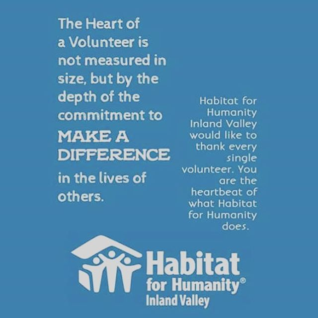 Thank you to all of our awesome volunteers! You are the 💗 beat of what Habitat does!