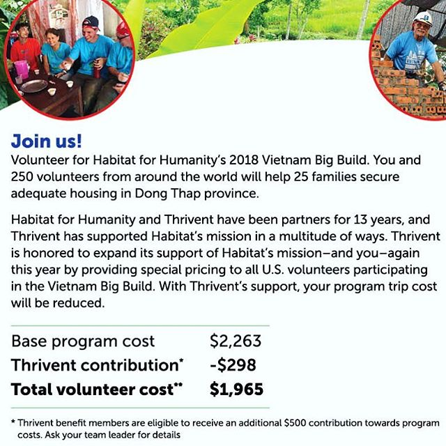 Vietnam Big Build 2018! Come explore the rich culture of Vietnam and lend a hand in building its future!  For more info, check out our website: habitativ.org