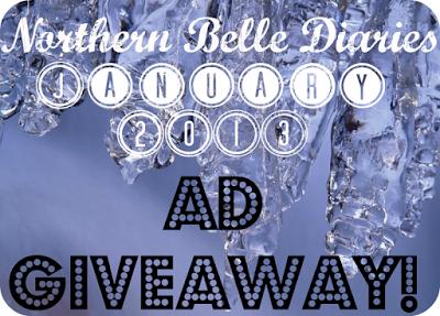 Northern Belle Diaries Jan 2013 giveaway