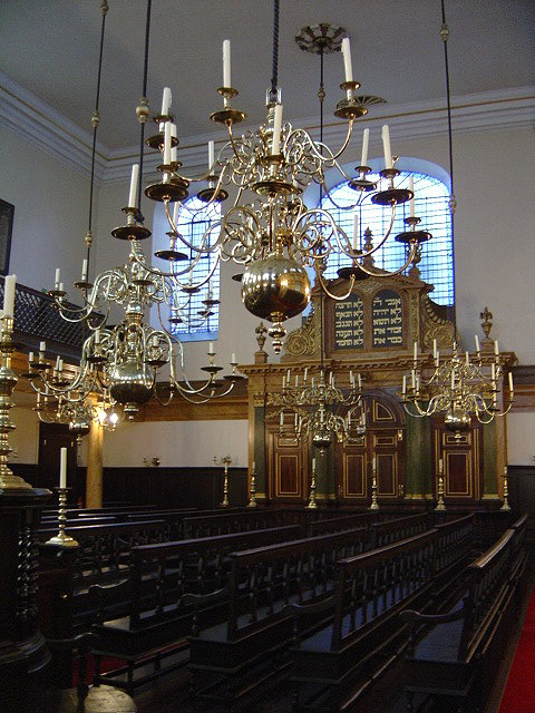 Interior of the Grade I Listed synagogue.
