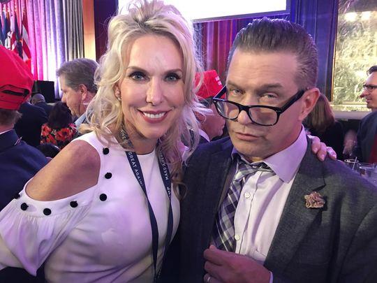 Monique Breaux with Stephen Baldwin (Photo: Tim Breaux)
