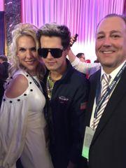 Monique and Tim Breaux are pictured with Milo, a Trump activist.(Photo: Tim Breaux)