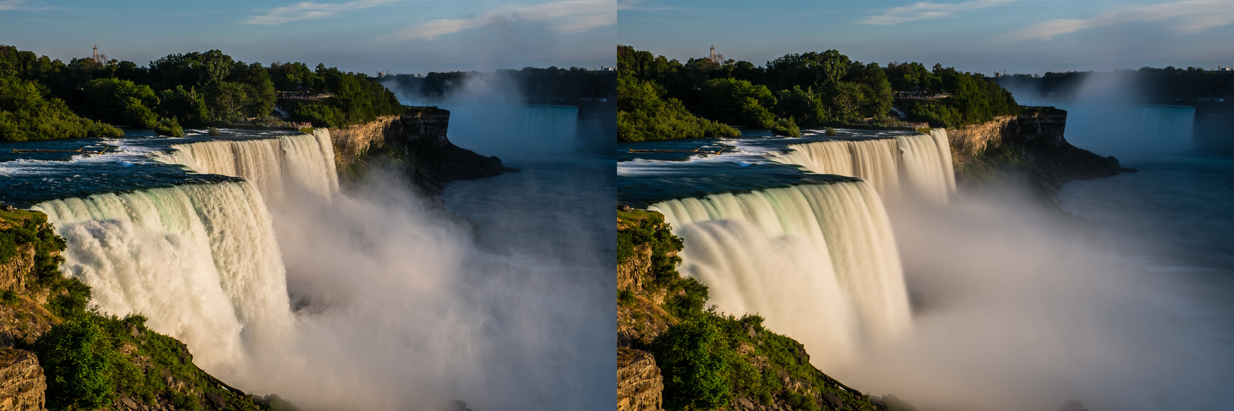 BEFORE AND AFTER - With this capture, I only blended 25 of 100 images that I shot of this technique in mind, this gave me textures in the falls still. So you can have the full effect or as little as you like and fine tune it to what you require!