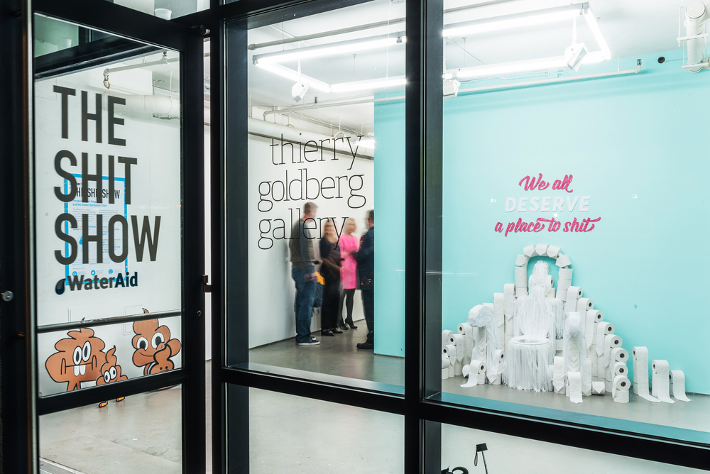 Installation created for The Shit Show; an interactive gallery of poop-themed art commemorating World Toilet Day, November 19. A benefit for WaterAid – produced by Co:Collective.