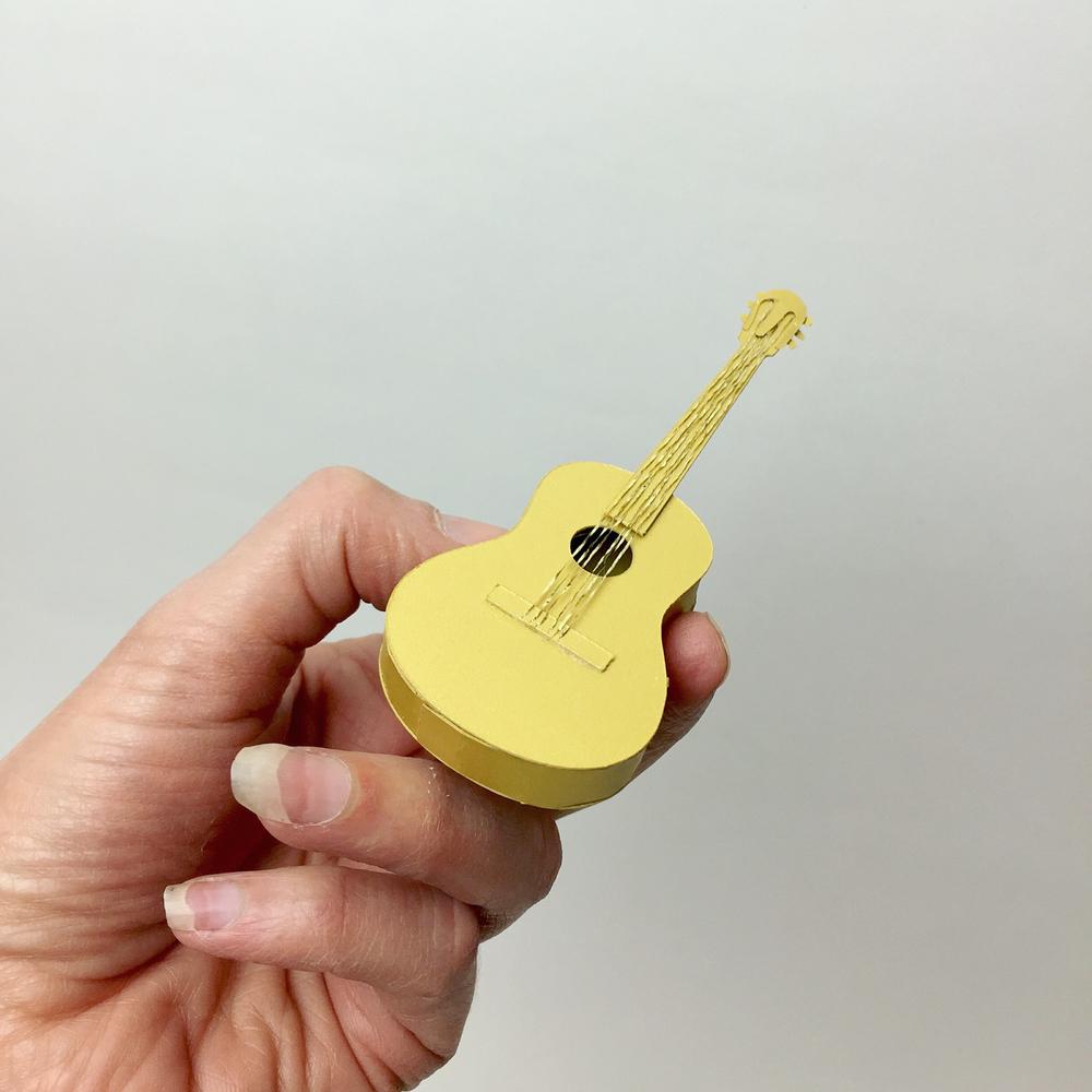 Gold paper guitar
